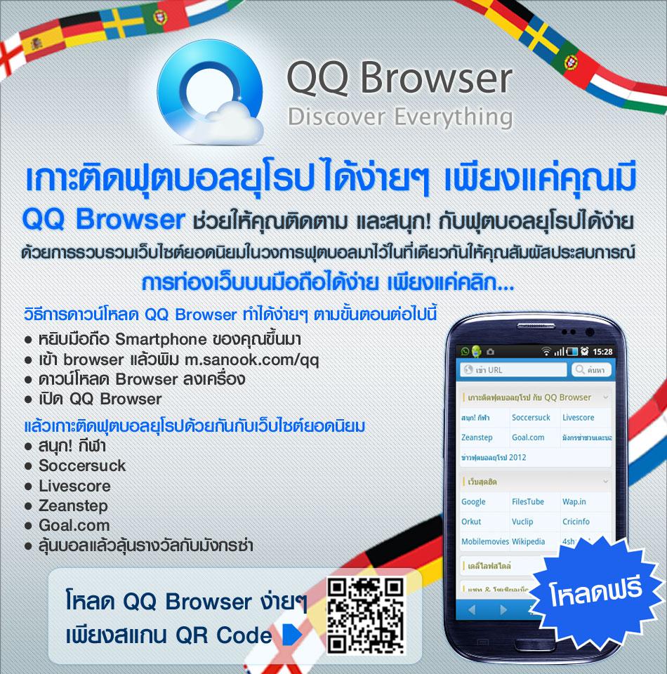 เกาะติดฟุตบอลยุโรปได้ง่ายๆ เพียงแค่คุณมี QQ Browser
